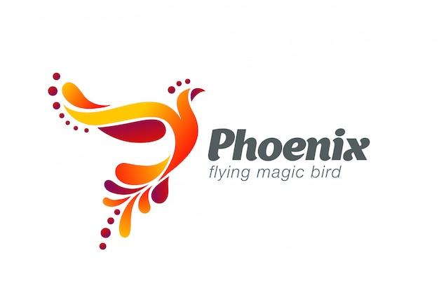 妖精鳥抽象的なロゴベクトルアイコン。