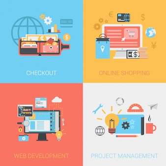 Плоские методы проверки, интернет-магазины, веб-разработка, набор концепций управления проектами.