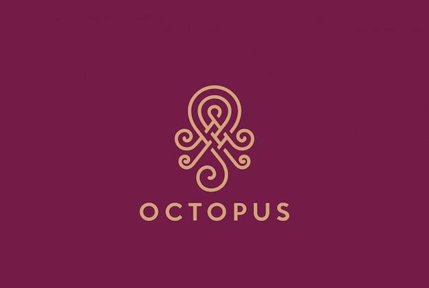 Абстрактный элегантный логотип осьминог
