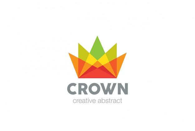 Красочный логотип корона значок.
