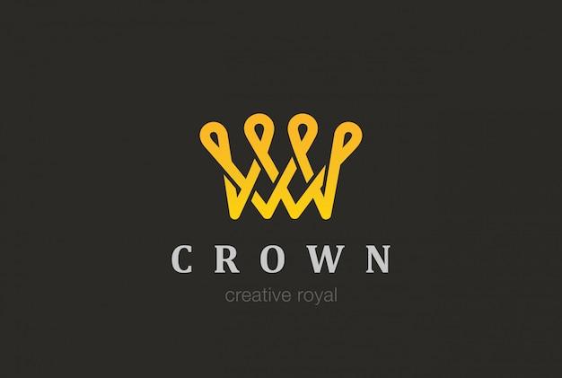 Корона логотип значок.