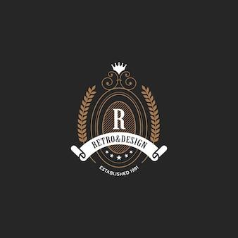 ヴィンテージラベルバッジロゴ。