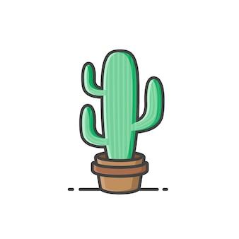 サボテン、植物のアイコン