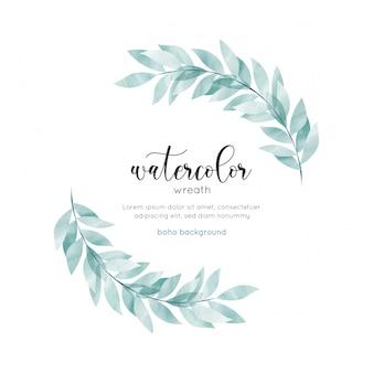 Акварель богемный стиль цветочная открытка
