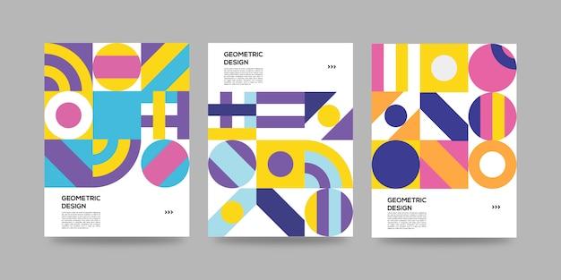 Ретро обложка набор шаблонов