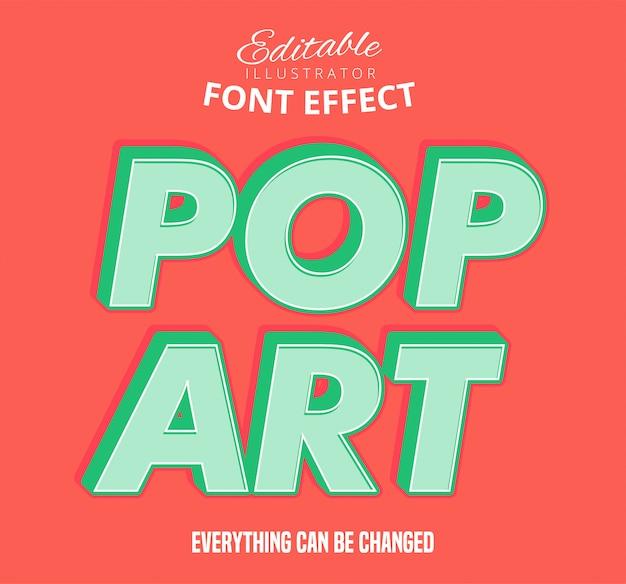 Поп-арт текст, редактируемый стиль текста
