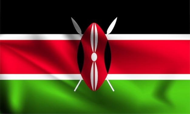 Развевающийся флаг кении