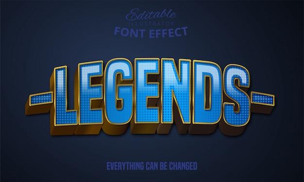 Текст легенды, редактируемый эффект шрифта