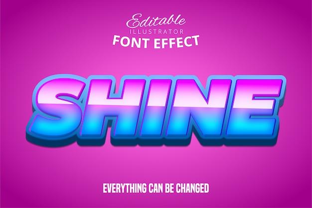 Блеск текста, редактируемый эффект шрифта