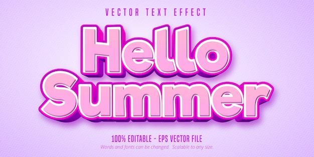 Привет лето редактируемый текстовый эффект