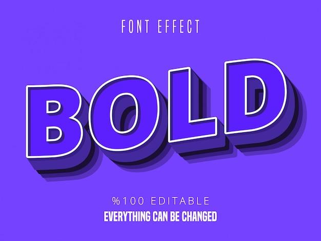 Сильный смелый современный эффект шрифта