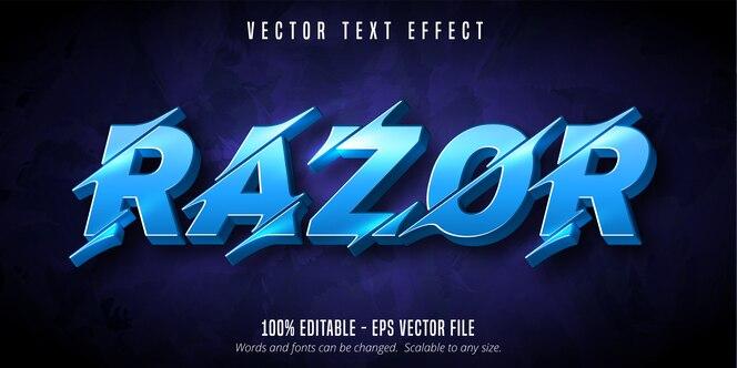 Бритва текста, вырезанный стиль редактируемый текстовый эффект