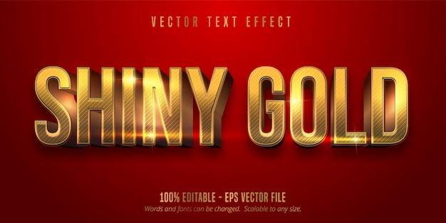 Красный цвет и блестящий золотой стиль редактируемый текстовый эффект