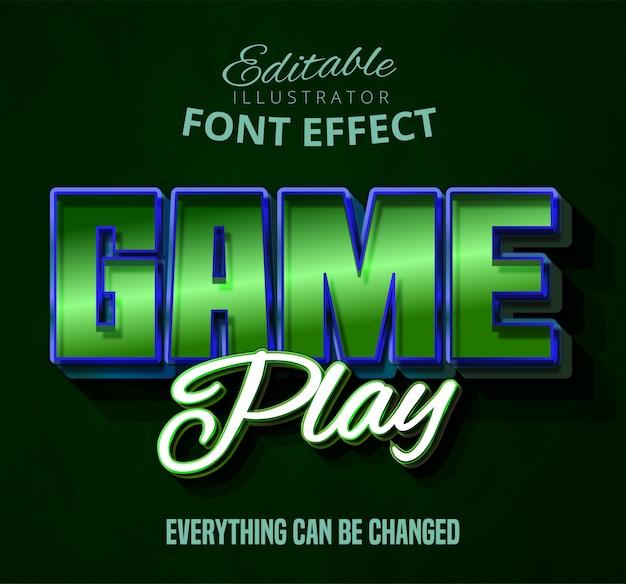 ゲームプレイテキスト、編集可能なフォント効果