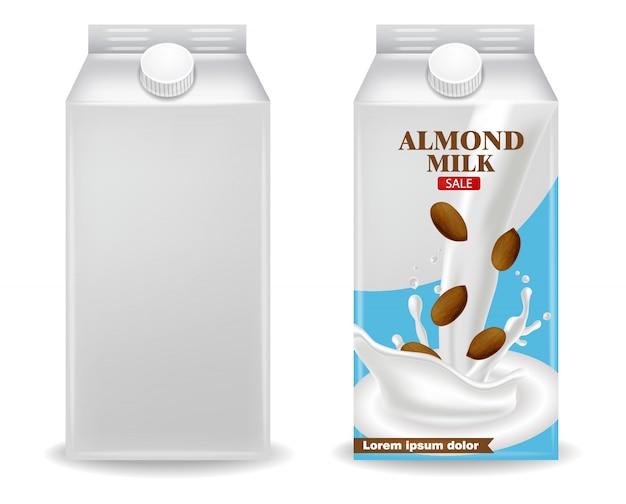 Коробка с миндальным молоком