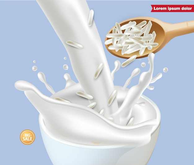 Макет рисового молока