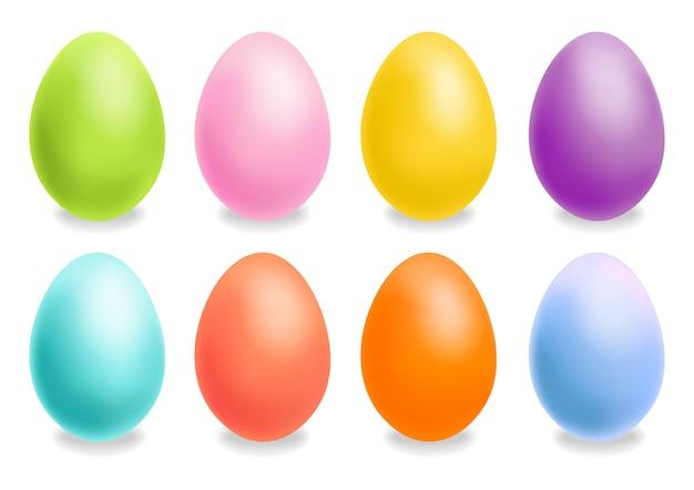 Набор красочных пасхальных яиц