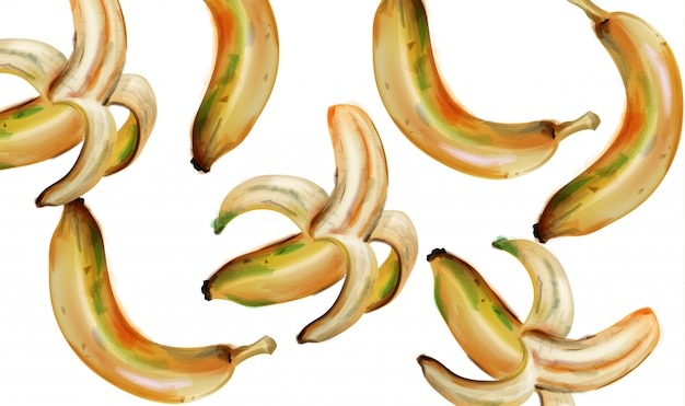 Банановая акварель