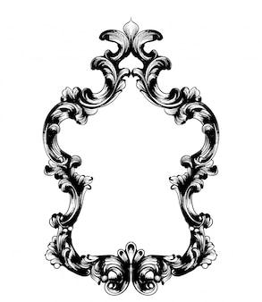 Барочная зеркальная рама