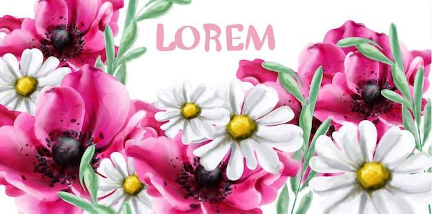 春の花の水彩画