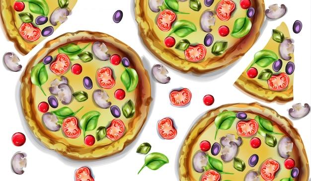 Пицца акварельная