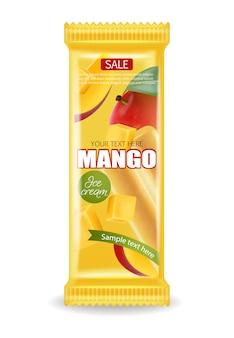 マンゴーアイスクリームパッケージ