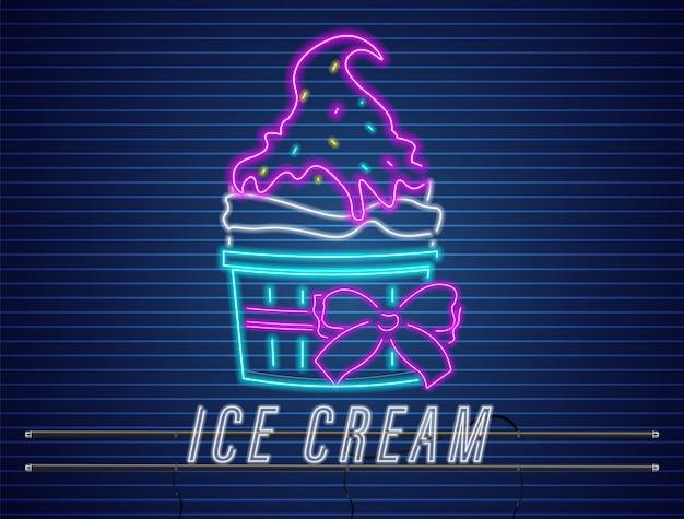 Чашка для мороженого с бантом неоновая