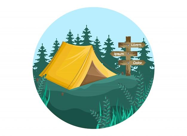 キャンプの背景