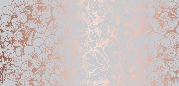 自由奔放に生きるビンテージ花の背景