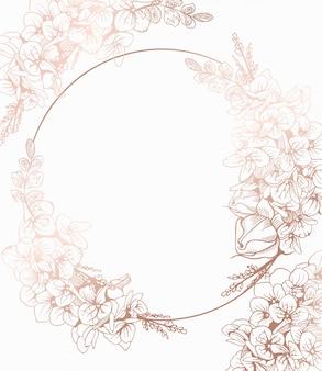 自由奔放に生きるビンテージ花の花輪の装飾