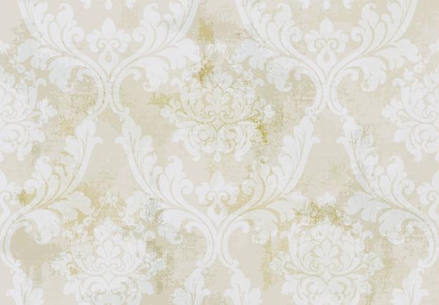 Старинный орнамент бесшовные модели. барокко рококо текстуры роскошный дизайн. королевские текстильные декоры.