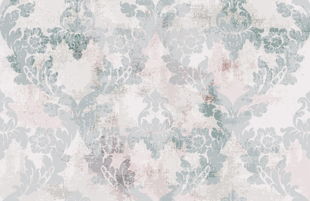 ビンテージ飾りのシームレスなパターン。バロック様式のロココ調の質感の高級デザイン。ロイヤルテキスタイルの装飾。