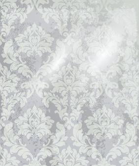 ビンテージ飾りの背景。バロック様式のロココ調の質感の高級デザイン。ロイヤルテキスタイルの装飾