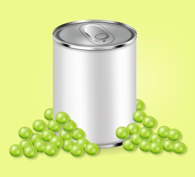 グリーンピース缶