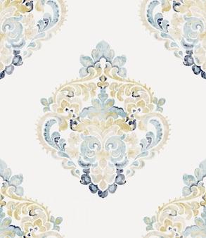 Барочный орнамент. роскошные акварельные модные текстуры. винтаж ретро старые стили