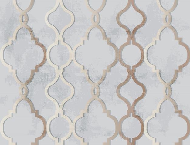 Арабский золотой орнамент шаблон. роскошные элегантные глянцевые цветовые декоры
