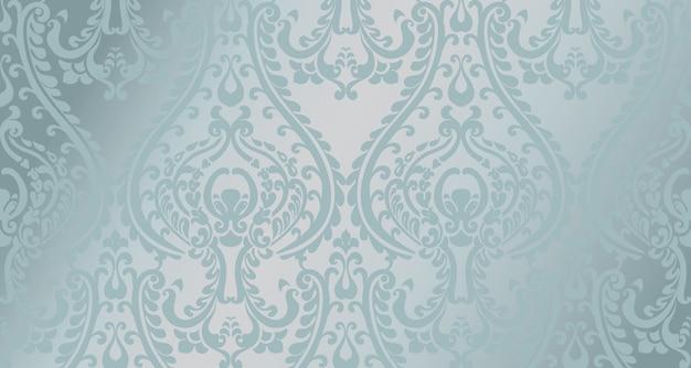 Арабский орнамент шаблон. голубой глянцевый цвет