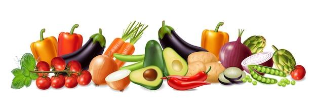 Коллекция баннеров с овощами