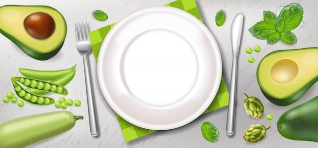 アボカドと緑のポスター