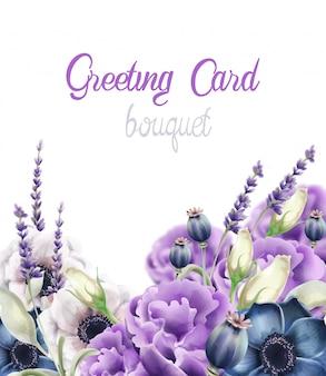 秋の花のグリーティングカード