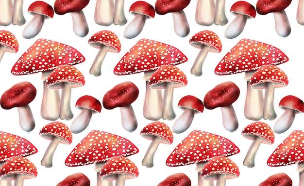 Композиция из красных грибов