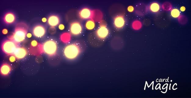 光のキラキラと星空のバナー