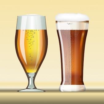二つの異なるビール