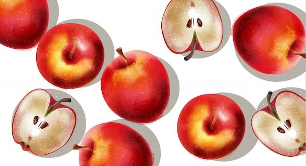 赤いリンゴの束