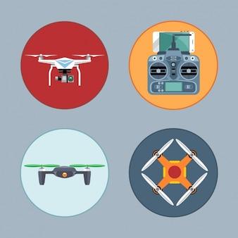Четыре беспилотные летательные аппараты