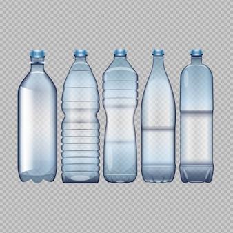 異なる水のボトル