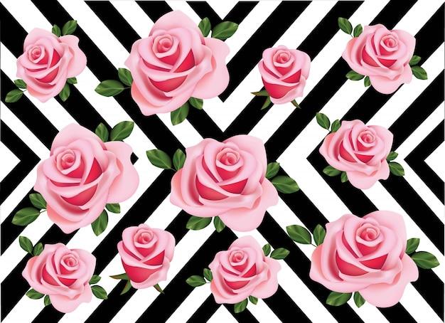 バラのパターンの抽象的な背景