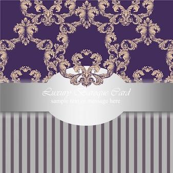 Урожай орнамент баннер плакат фон векторные иллюстрации серебро