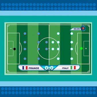 サッカーのラインナップのデザイン