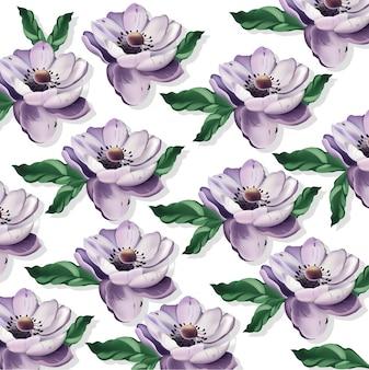 美しい紫色の花。花柄の背景